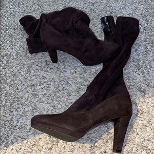New Brown high heel boots